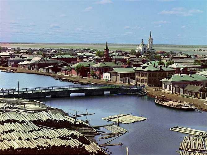 Thị trấn Tobolsk, ở Tyumen Oblast (Nga), từng là trung tâm quân sự, chính trị của Nga ở Siberia