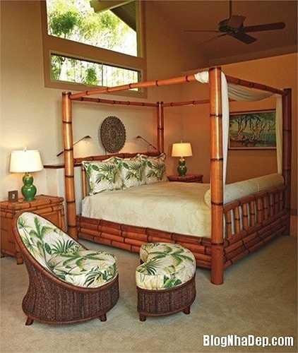 Ngoài ra bạn cũng có thể sử dụng những đồ nội thất, trang trí có màu sắc xanh mát, hoặc gợi lên những hình ảnh về cây cối.