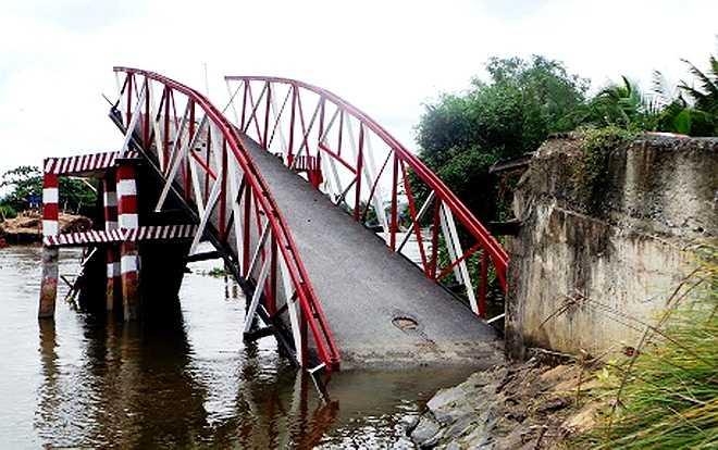Cầu Cái Tâm được xây năm 2008, bằng sắt, rộng 3 m, dài khoảng 50 m, bề mặt trải nhựa và nằm cách trường tiểu học Tân Nhựt 6 khoảng 100 m.