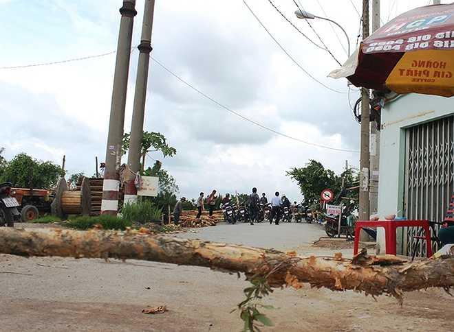 Ngày 13/7, cơ quan chức năng huyện Bình Chánh và Trạm CSGT đường thủy Rạch Cát (thuộc Phòng Cảnh sát giao thông TP HCM) vẫn phong tỏa hiện trường, triển khai phương án khắc phục sự cố. Nguồn: VnExpress.
