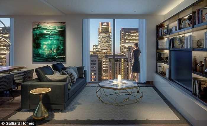 Bên trong căn hộ được thiết kế rất thoáng và đẹp mắt. Những căn hộ này sẽ được đưa vào sử dụng từ năm 2019