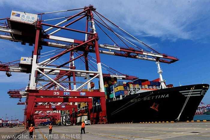 Sơn Đông có 13.475.226 nhà đầu tư, tương ứng 5,71% dân số. Trong ảnh là một bến cảng ở Sơn Đông chụp hồi tháng 8/2014.