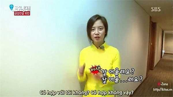 Song Ji Hyo xinh đẹp trong tà áo dài Việt Nam khi đến quay Running Man.