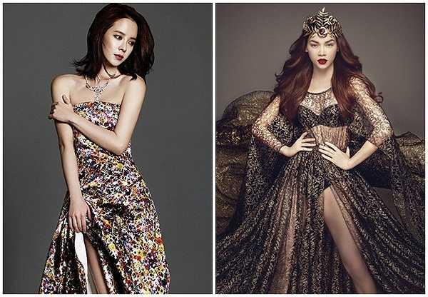Cả hai còn được đánh giá là có vẻ ngoài trẻ hơn tuổi thực (Hà Hồ sinh năm 1984 còn Ji Hyo sinh năm 1981).