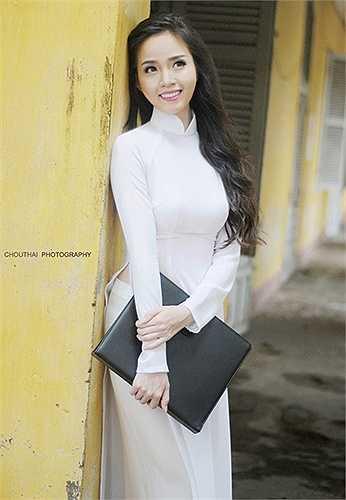 Cô bạn tiết lộ sắp tới sẽ tham dự cuộc thi Hoa hậu Hoàn Vũ Việt Nam 2015.
