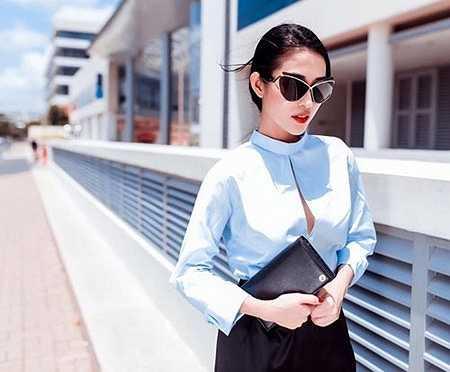 Sở hữu làn da trắng, vóc dáng thanh mảnh bạn gái cũ Trấn Thành dễ dàng chinh phục được nhiều phong cách thời trang