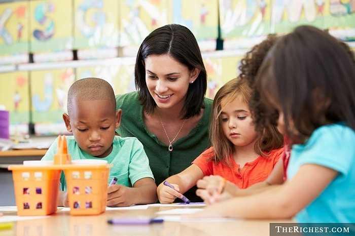 Giáo viên mẫu giáo và tiểu học. Nếu có một thầy giáo mầm non hay tiểu học thì họ luôn nhận được sự đánh giá rất cao bởi lẻ nghề này gần như đã được 'đóng đinh' cho nữ giới