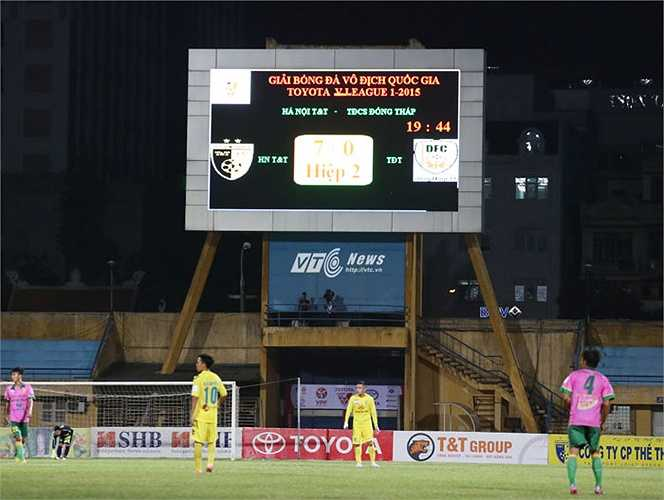 Tỷ số 7-0 phần nào phản ánh sự tẻ nhạt của trận đấu chiều qua.(Ảnh: Phạm Thành)