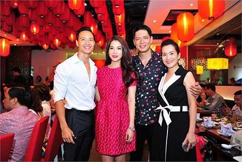 Kim Lý và gia đình Bình Minh đến chúc mừng Trương Ngọc Ánh.