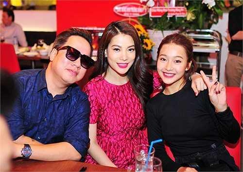 Hot girl Khả Ngân và MC Thanh Tùng.