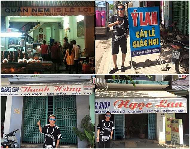 Ngày 14/7, Đàm Vĩnh Hưng đăng tải lên Facebook các bức ảnh thú vị: 'Haizzz! Nhiều nghệ sĩ kinh doanh âm thầm lắm nhe!!  Một đoạn đường ngắn tại Nha trang thôi đã có tới 4 nhân vật nổi tiếng làm nghề tay trái rồi nè!!'.