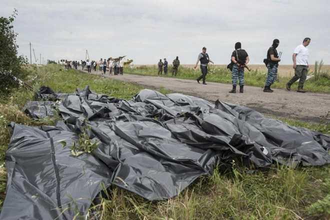 Hình ảnh chụp ngày 19/7/2014 tại hiện trường vụ rơi máy bay MH17 ở Ukraine
