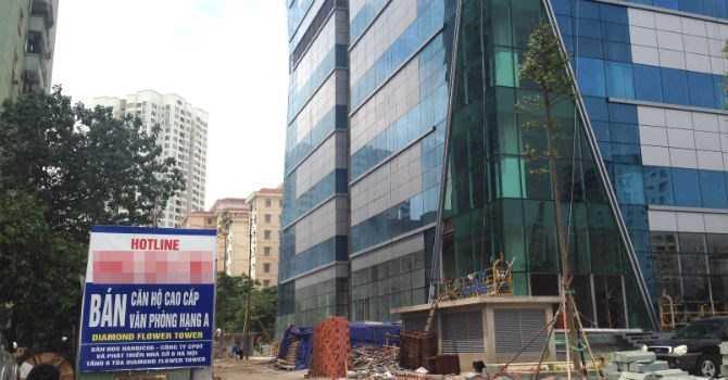 Dự án Diamond Flower Tower đang nợ 115,89 tỷ đồng tiền sử dụng đất.