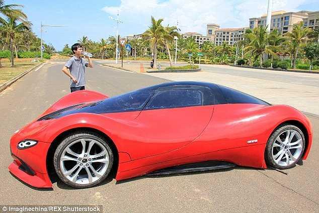 Chính quyền Trung Quốc không cho phép chiếc xe được lưu thông trên đường phố vì cho rằng nó dễ gây tai nạn giao thông