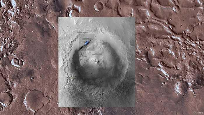 Sao Hỏa được bản đồ hóa, do đó người xem có thể lựa chọn hoặc tìm kiếm địa điểm muốn tham quan. Ứng dụng đánh dấu những địa điểm quan trọng, bao gồm vị trí hạ cánh của bốn tàu thám hiểm sao Hỏa (Sojourner, Spirit, Opportunity và Curiosity), cũng như tàu đổ bộ Phoenix.