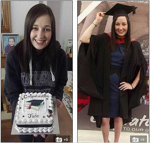 May mắn, chỉ một thời gian ngắn Jade đã hồi phục để kịp trở lại trường hoàn thành chương trình học và tốt nghiệp với tấm bằng loại ưu.