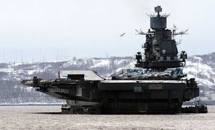 Tàu sân bay hạng nặng Kuznetsov, nơi vận chuyển các chiến cơ