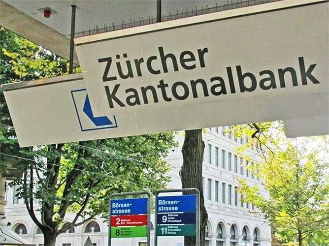 2. Ngân hàng Zurcher Kantonalbank  Quốc gia: Thụy Sĩ  Tài sản: 167.927.000 USD  Điểm tín nhiệm Fitch: AAA / Moody: Aaa / S & P: AAA