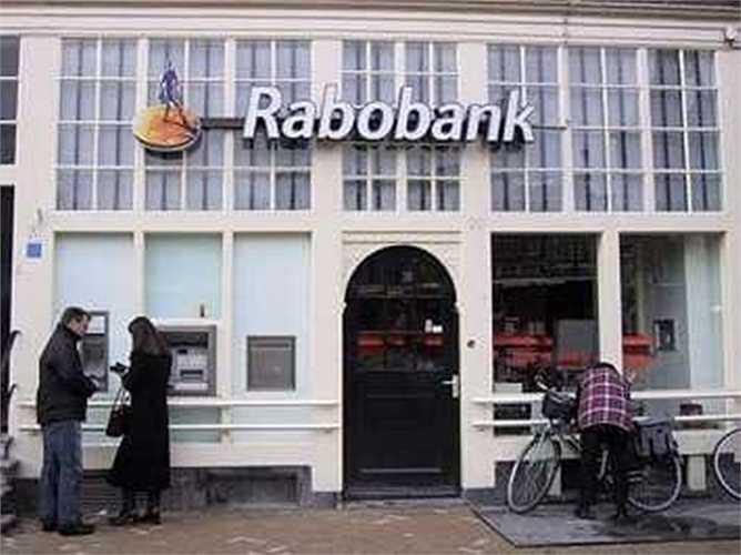 15. Ngân hàng Rabobank  Quốc gia: Netherlands  Tài sản: 929.719.000 USD  Điểm tín nhiệm Fitch: AA- / Moody's: Aa2 / S&P: AA-