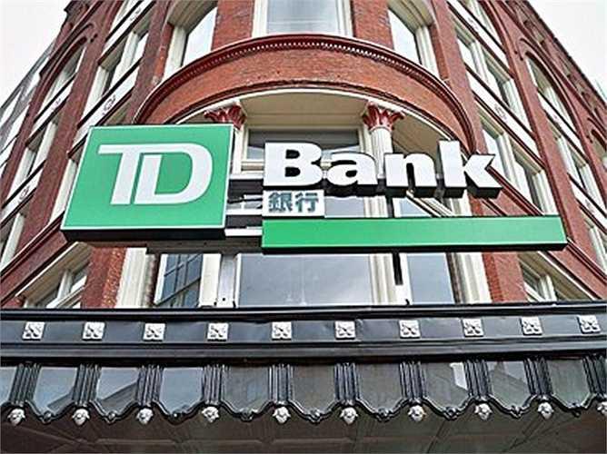 11. Ngân hàng TD Bank  Quốc gia: Canada  Tài sản: 824.916.000 USD  Fitch: AA- / Moody's: Aa1 / S&P: AA-
