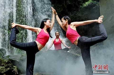 Tập yoga ở thung lũng này, nhiều người cho rằng mình có thể hấp thụ được nhiều linh khí của đất trời, thiên nhiên