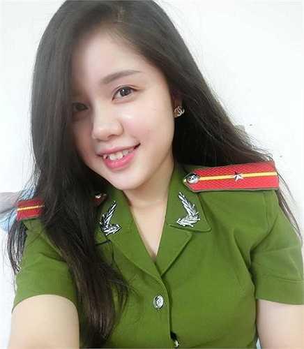 Hiện cô bạn đang công tác tại Công an TP Hà Nội.