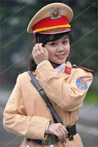 Mơ ước trở thành công an đã thôi thúc cô đăng ký thi vào ngành Cảnh sát giao thông.