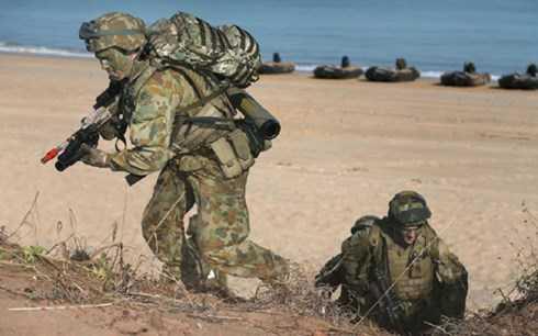 Cuộc tâp trận của quân đội Mỹ - Nhật Bản - Australia tại bờ biển của quốc gia châu Đại dương