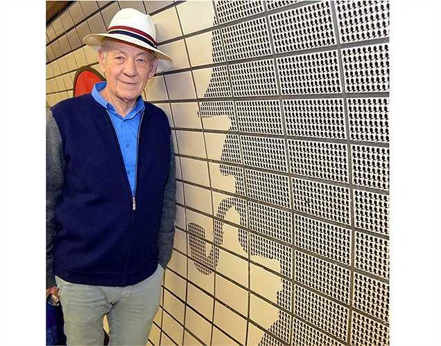 Diễn viên kỳ cựu Ian McKellen thích thú khi bắt gặp hình ảnh 'Mr.Holmes' (nhân vật do ông thủ vai chính trong bộ phim cùng tên).