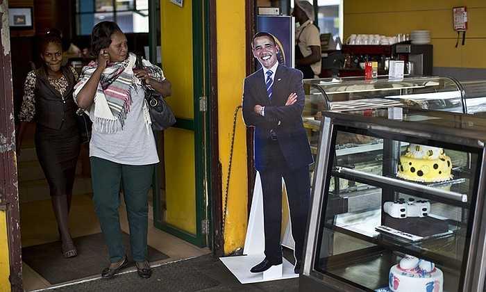 Hình ảnh ông Obama xuất hiện ở khắp nơi