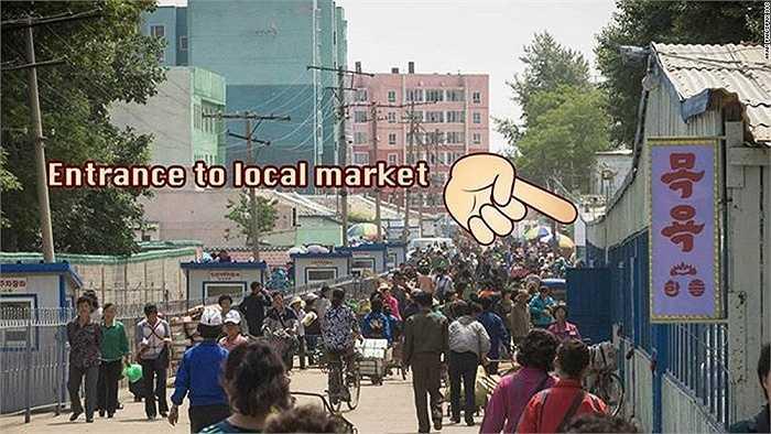 Pan cho biết lần tới thăm khu chợ này là một ngày đáng nhớ của anh. Tuy nhiên, anh không được phép chụp ảnh tại khu vực đông đúc này