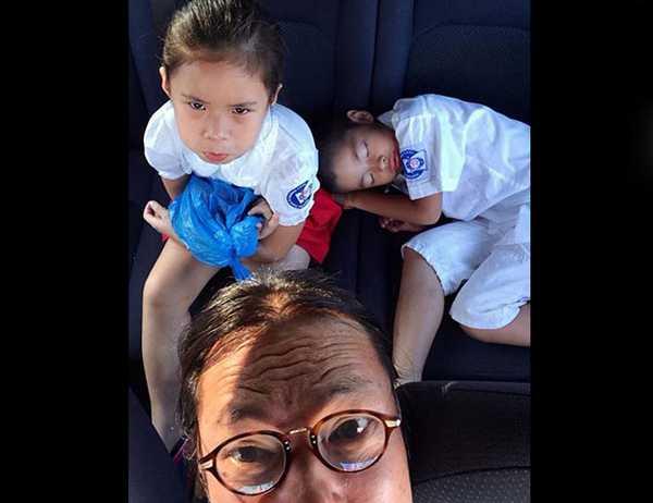 Trần Lực hạnh phúc bên vợ và những đứa con xinh xắn