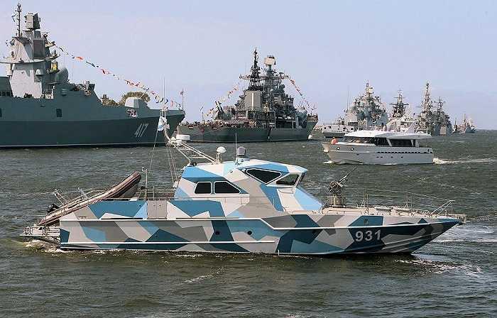 Tàu chống ngầm tập luyện chuẩn bị lễ kỷ niệm Ngày Hải quân Nga