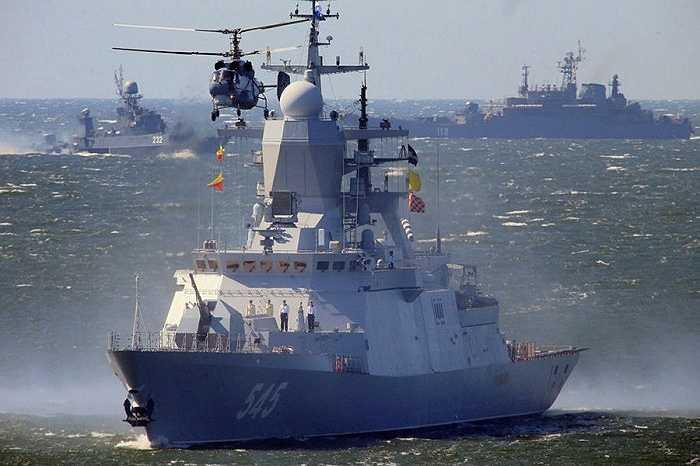 Tàu hộ tống Stoiky, số hiệu 545, là chiếc tàu thứ 4 thuộc lớp Steregushchy của Hải quân Nga