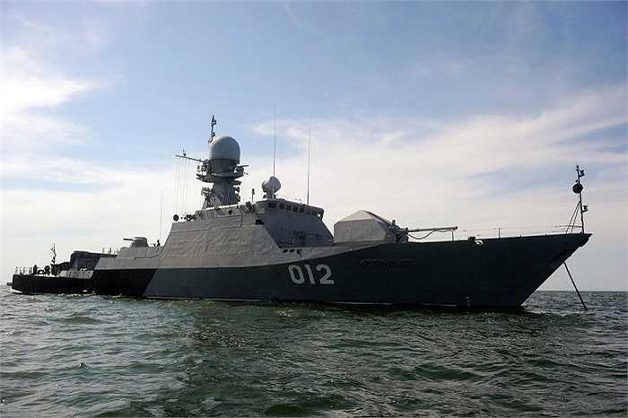 Tàu hộ tống Astrakhan lớp Buyan tham gia tập trận