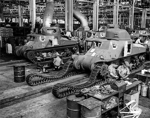 Xe tăng M-3 nhà máy sản xuất xe tăng của Mỹ