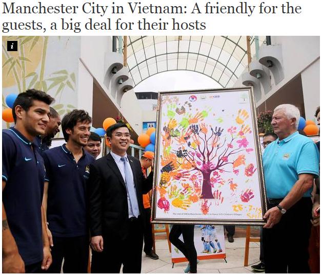 'Man City du đấu tại Việt Nam: Một trận giao hữu của đội khách, một hợp đồng lớn dành cho chủ nhà'