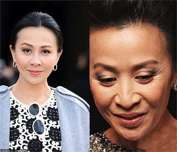 Ảnh thật (bên phải) tố nữ diễn viên Lưu Gia Linh có gương mặt nhăn nheo đúng tuổi  (Nguồn: 24h)