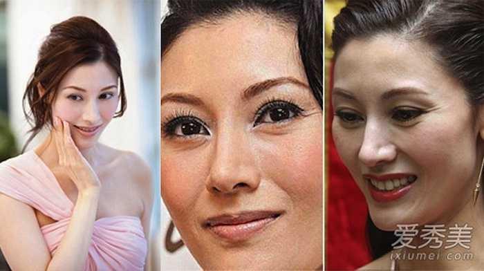Hoa hậu đẹp nhất lịch sử Hong KongLý GiaHân có gương mặt thật lộ nếp nhăn và những vết chân chim chứ không căng mịn, láng mượt như trong ảnh