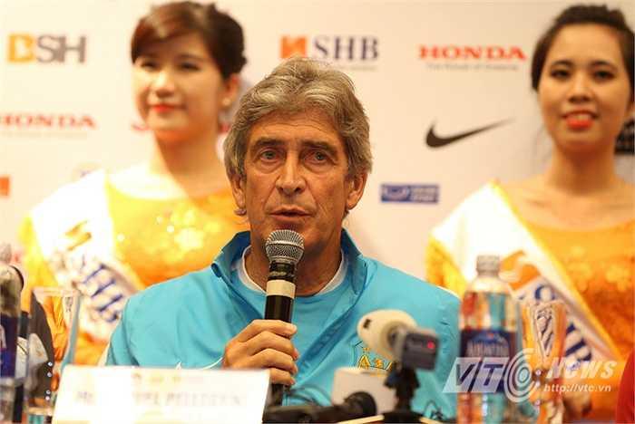 Trong khi đó, HLV trưởng của Man City Pellegrini cũng khẳng định, sẽ tung vào sân những cầu thủ hay nhất để giành chiến thắng. (Hà Thành - Ảnh: Quang Minh)