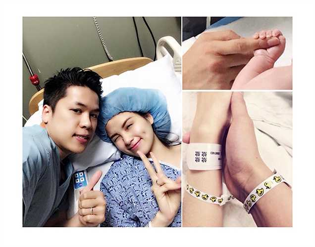 Hoa hậu thế giới người Việt Diễm Hương sinh con trai đầu lòng tại Mỹ vào 12/1. Bé có tên Noah Nguyễn.