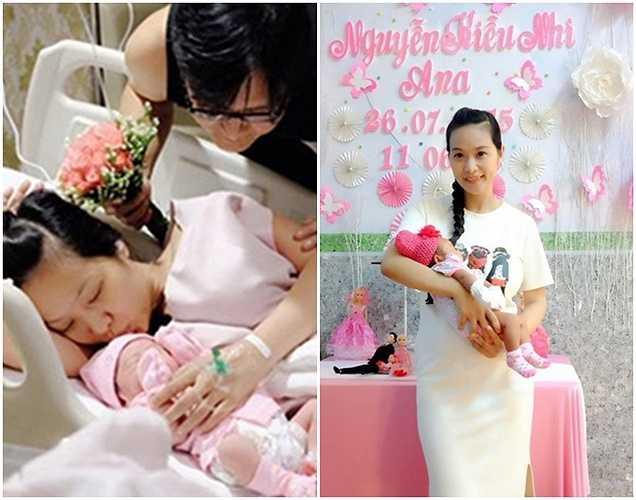 Lê Kiều Như đón con gái đầu lòng vào 26/6 tại bệnh viện Quốc tế Hạnh Phúc, Bình Dương. Mối quan hệ của cô và nhạc sĩ Nguyễn Nhất Huy đã kéo dài 10 năm nhưng vẫn chưa tổ chức đám cưới.