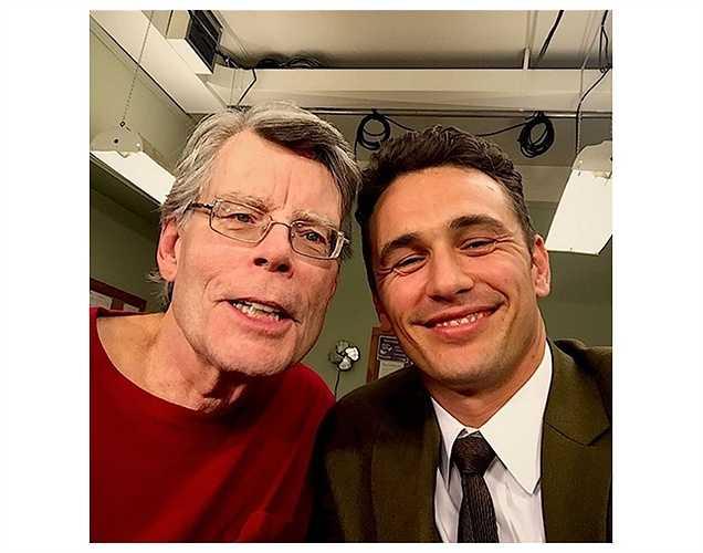 Nam diễn viên James Franco bày tỏ sự vui mừng khi được làm việc cùng nhà văn viết truyện giả tưởng nổi tiếng Stephen King (Bài: Vũ Khanh. Ảnh: Tổng hợp).