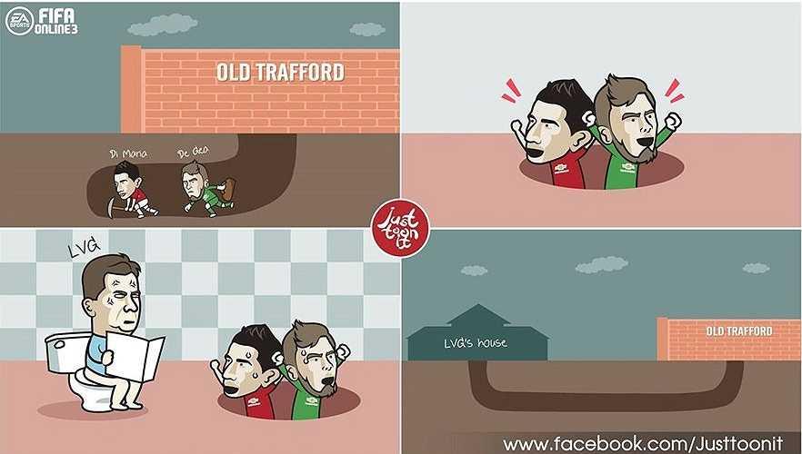 De Gea và Di Maria tìm cách 'vượt ngục' khỏi Man Utd nhưng bất thành.