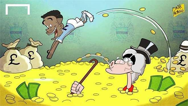 Sterling bơi trong tiền khi đến Man City