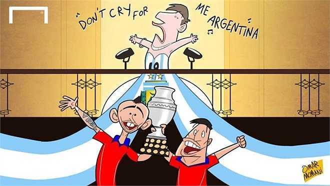 Messi và Argentina lại vô duyên với chức vô địch. Lần này, họ là á quân Copa America.
