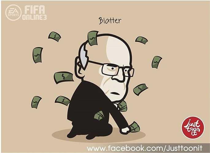 Chủ tịch FIFA bị ném tiền vào mặt