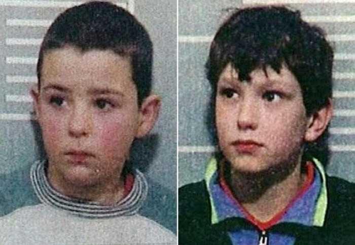 Jon Venables và Robert Thompson, cùng 10 tuổi. Ai cũng biết Jon Venables và Robert Thompson (cả hai đều 10 tuổi) có tật hay ăn cắp vặt ở các khu trung tâm mua sắm, kể cả lúc đó là ban ngày. Nhưng không ai có thể giải thích tại sao chúng lại bắt cóc bé James Bulger và nhẫn tâm sát hại cậu bé 2 tuổi này dưới góc quay của Camera.