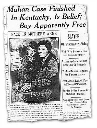 Carl Newton Mahan, 6 tuổi. Cậu bé sống ở Kentucky, Mỹ với gia đình của mình nhưng gia đình cậu bé quá nghèo khiến cậu phải đi nhặt ve chai kiếm sống. Trong một lần đi nhặt ve chai cùng bạn của mình, Cecil (8 tuổi). Cả hai cùng tìm thấy một mẩu kim loại và đánh nhau, Carl đã vô tình đánh chết bạn của minh. Tòa án không biết xử trí thế nào vì cậu quá nhỏ để nhận thức