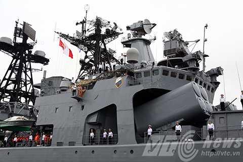 Bộ ba, chiến hạm, Hải quân Nga, đến Đà Nẵng, tàu khu trục, săn ngầm, Đô đốc Pantelev